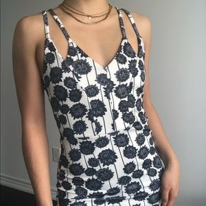 TOPSHOP floral prints bodycon mini dress